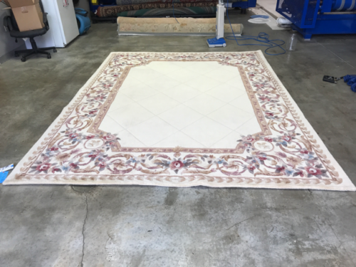 Floral Tufted Rug After Cleaning