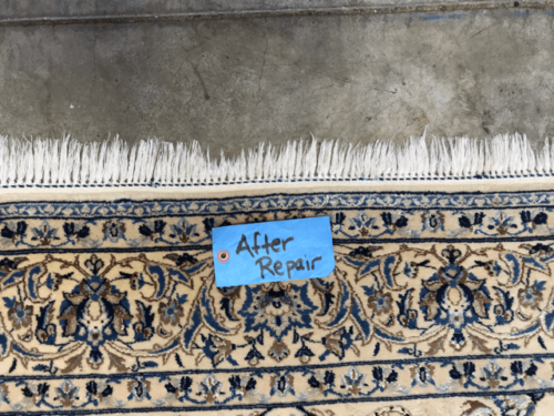 After Rug Fringe Repair