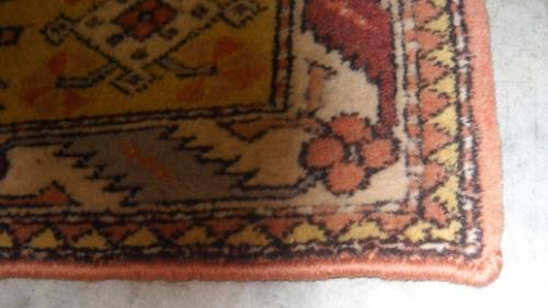 after rug binding repair