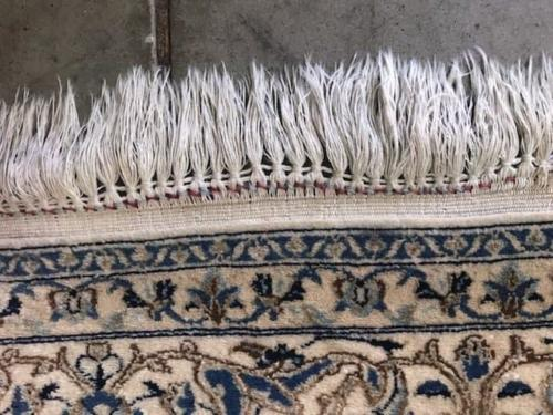 Before Rug Fringe Repair